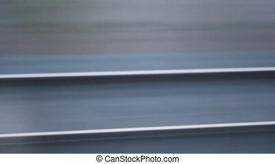high speed train on tracks