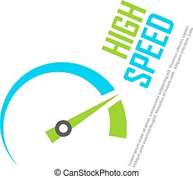 High speed vector icon