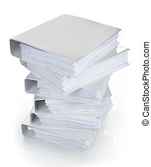 high stack of binder
