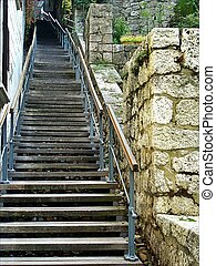High stairs