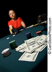 Poker card game stakes on the bet