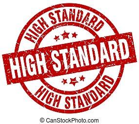 high standard round red grunge stamp