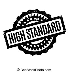 High Standard rubber stamp. Grunge design with dust...