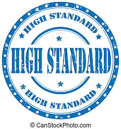High Standard-stamp - Grunge rubber stamp with text High...