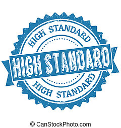 High standard stamp - High standard grunge rubber stamp on...