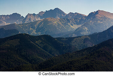 High Tatra Mountain in summer. lovely scenery observed from...