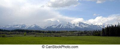 panorama of Slovak mountains - Tatras