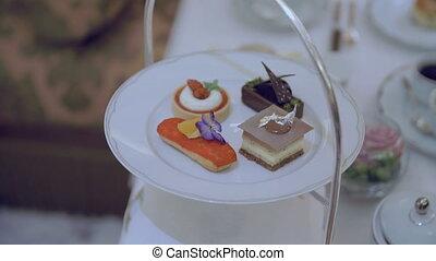 High tea desserts close-up