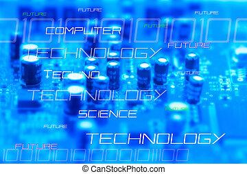 High-tec background - Futuristic Background