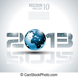 High tech and technology style 2013 happy new year ...