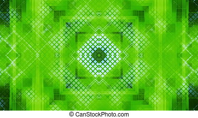 High tech blue green geometric squares VJ looping animated CG backdrop
