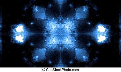 High tech blue Kaleidoscopic loop - VJ high tech blue...