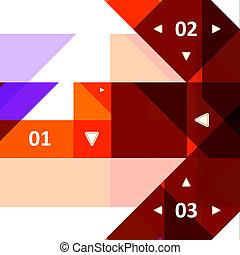 High Tech design for infographics, website template.