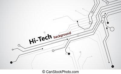 high-tech, fond