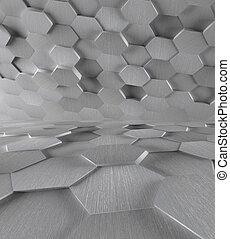 High Tech Futuristic Metal Background