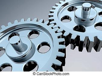 High Tech Gears - High-Resolution 3d concept art showing the...