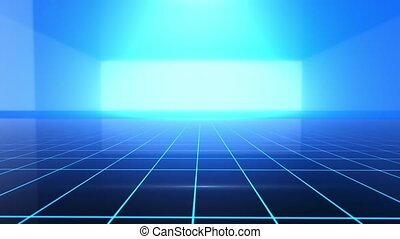 High Tech Grid Background