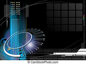 High-Tech Infinity - High-tech infinity concept with black...