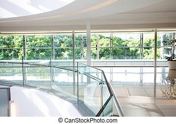 high-tech interior of a modern office building