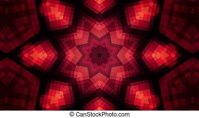 High tech Kaleidoscope Looping Animated Background