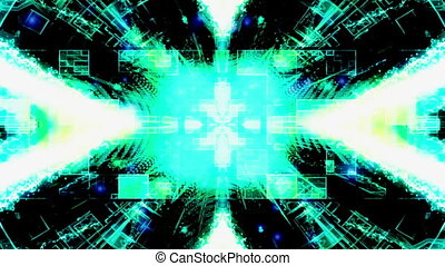 High tech looping abstract backdrop - Animated high tech...