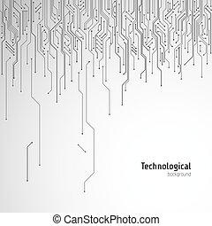 high-tech-, stromkreis, vektor, hintergrund, technologisch, board.