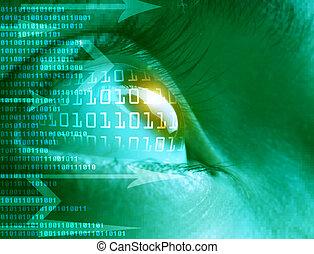high-tech, technologie, hintergrund