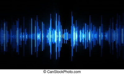 High-tech waveform - Blue high-tech waveform (seamless loop)