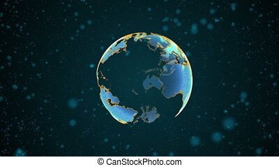 High technology globe