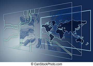 high technology - Background can use the Internet, print...