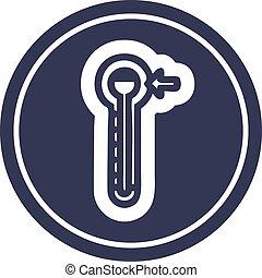 high temperature circular icon