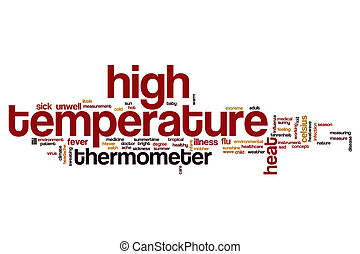 High temperature word cloud