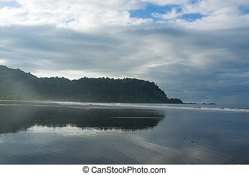 High tide on Jaco beach, Costa Rica
