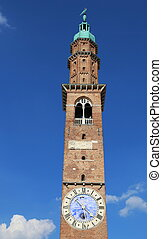 high tower of Basilica Palladian symbol of the city of...