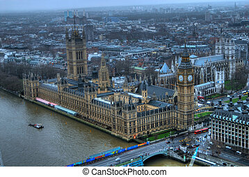 Aerial view of London England