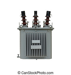 electric transformer isolated on white background