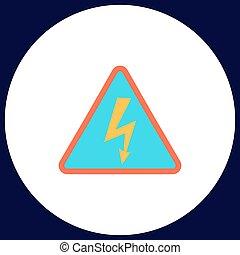 High voltage computer symbol