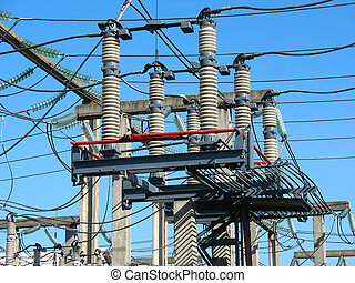 High voltage converter equipment at power plant