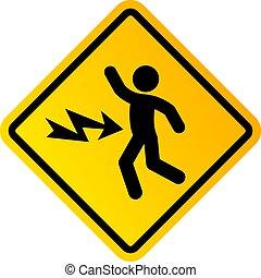 High voltage danger, electric shock sign