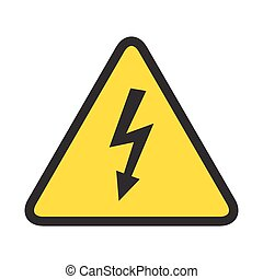 High voltage danger sign isolated on white background