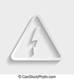 High voltage danger sign.
