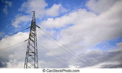 High voltage electric power pylon