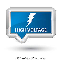 High voltage (electricity icon) prime blue banner button