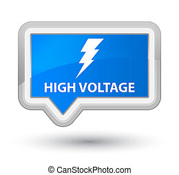 High voltage (electricity icon) prime cyan blue banner button