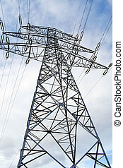 High voltage electricity towers