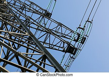 High Voltage - High voltage electric line detail