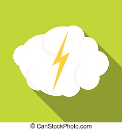 High voltage icon, flat style