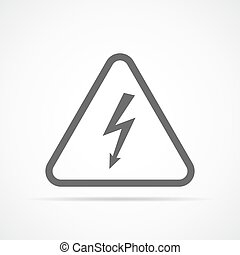 High voltage icon. Vector illustration