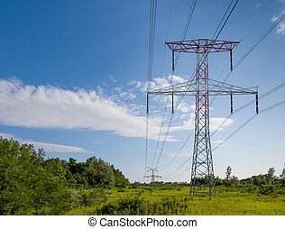 High voltage in the country