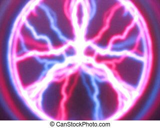 high voltage - Lightning bolt plasma display.